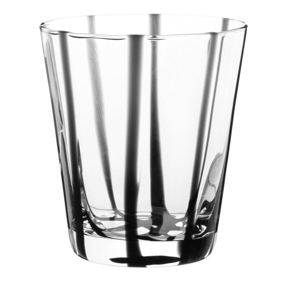 Gobelet en verre à rayures noires