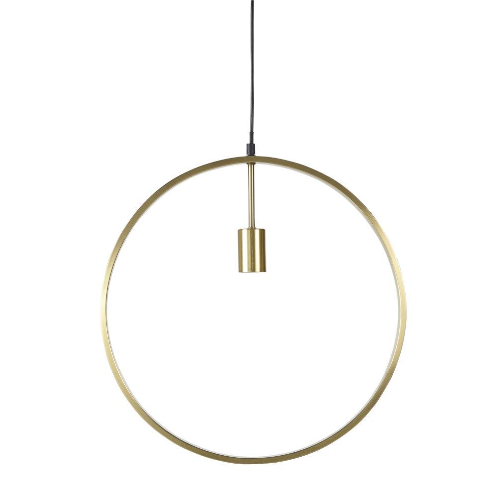 Goudkleurige Metalen Ringvormige Hanglamp