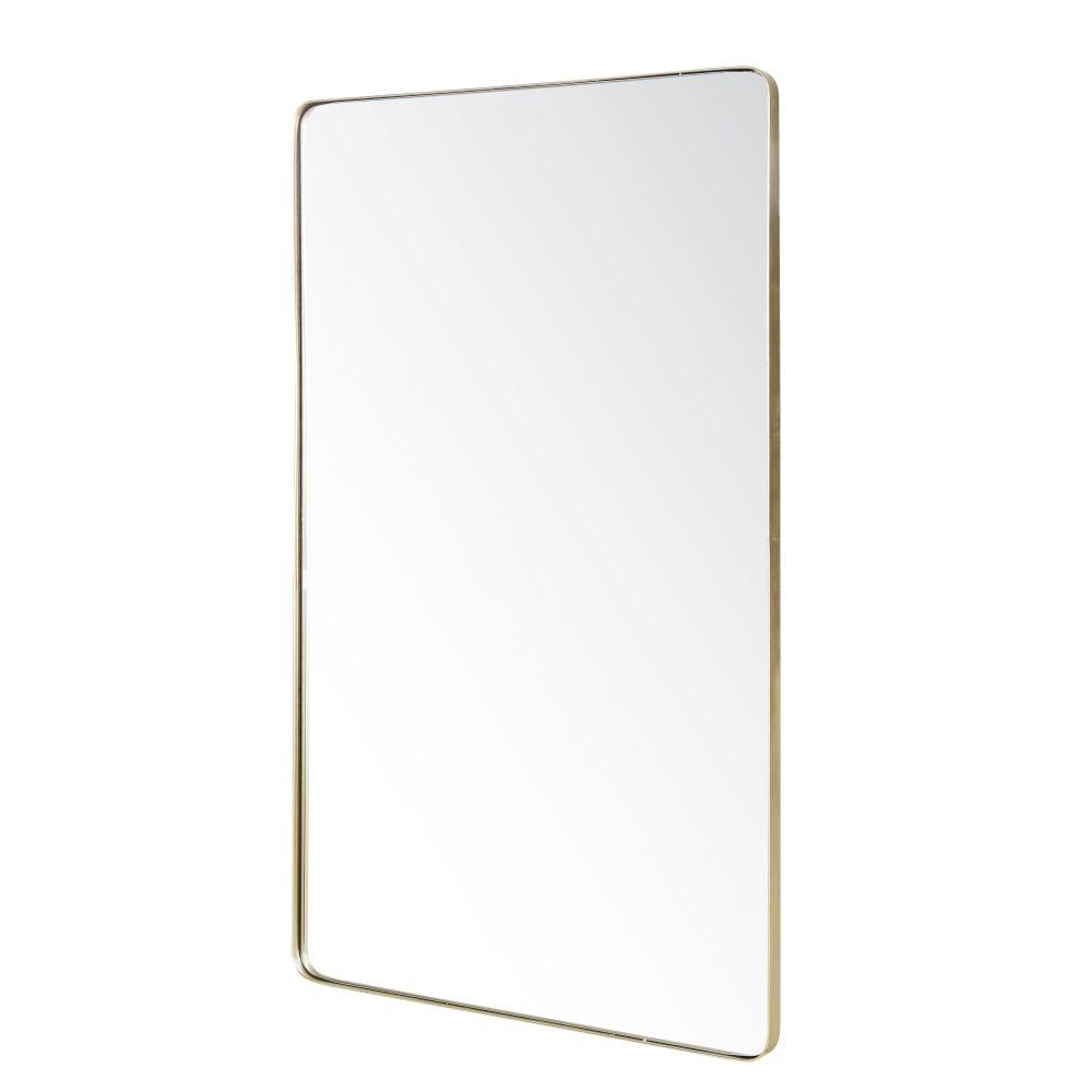 Goudkleurige Metalen Spiegel Met Afgeronde Randen 102x165