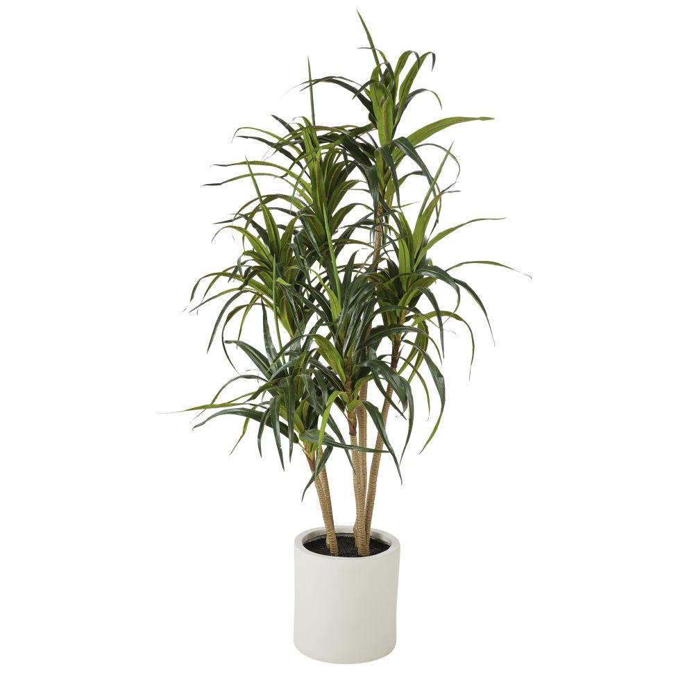 Groene Kunstplant Dracaena In Witte Pot H160