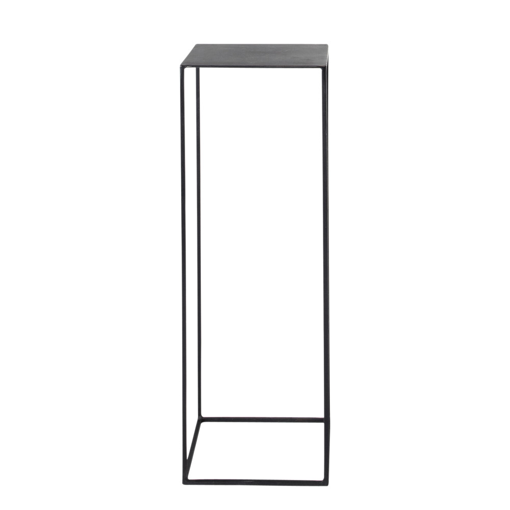 Guéridon indus en métal noir L 30 cm