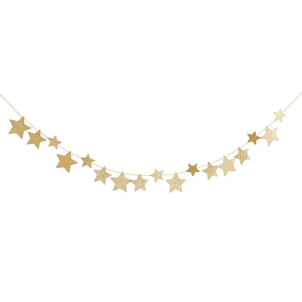 Guirlande étoiles dorées L210
