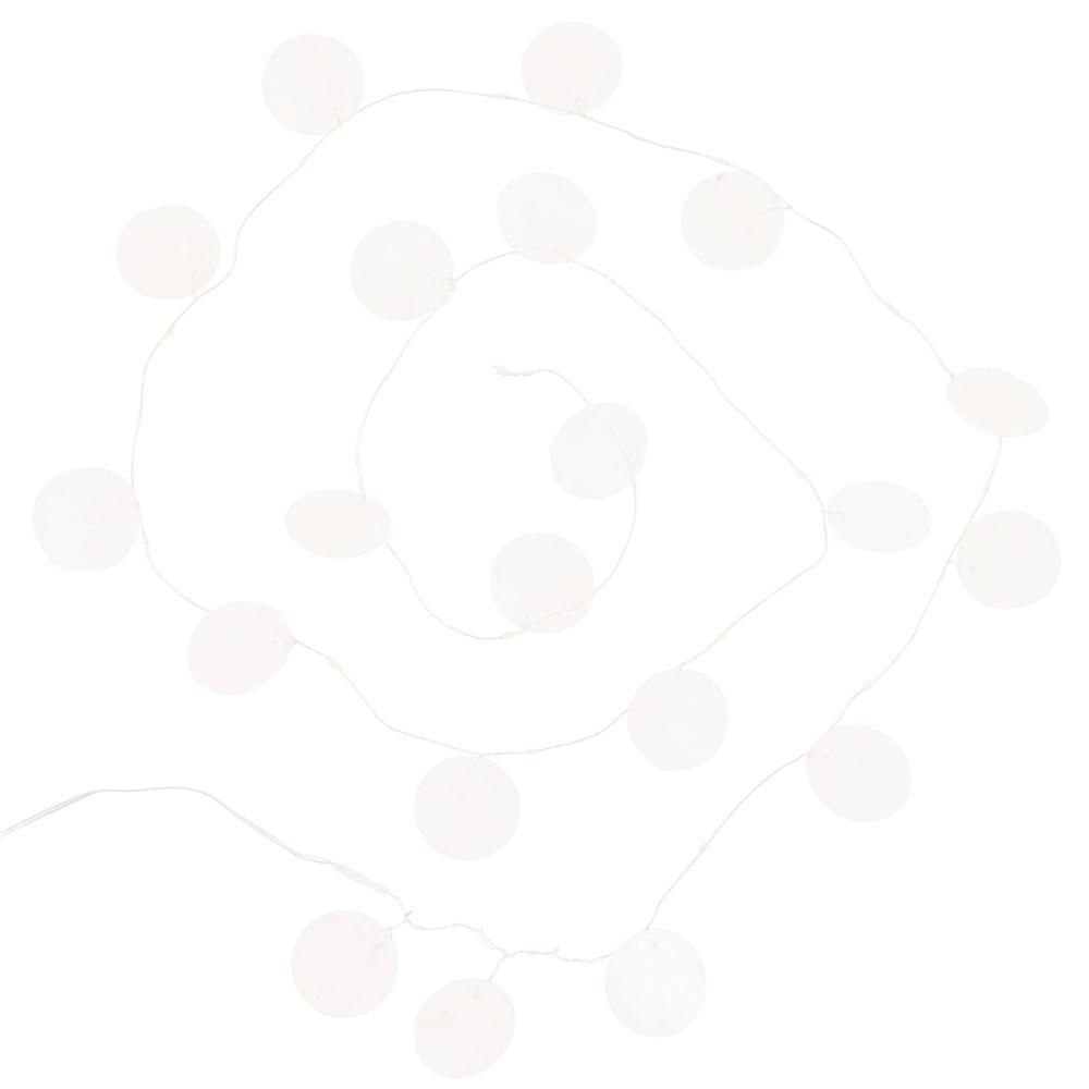 Guirlande lumineuse disques en nacre blanc 20LEDS L180