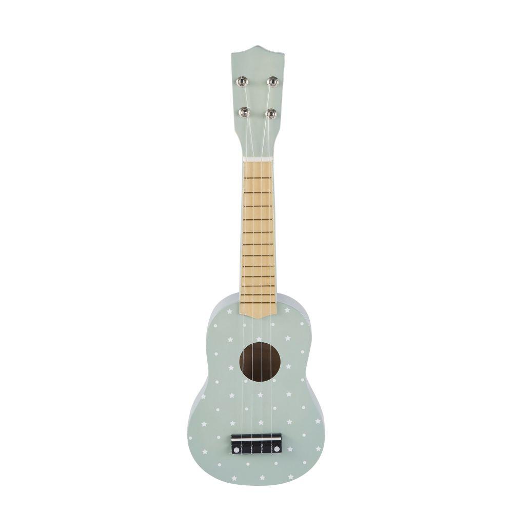 Guitare bleue à pois blancs
