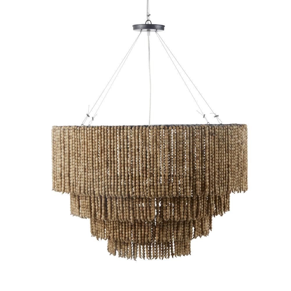Handgemaakte Grenen Hanglamp Met Parels
