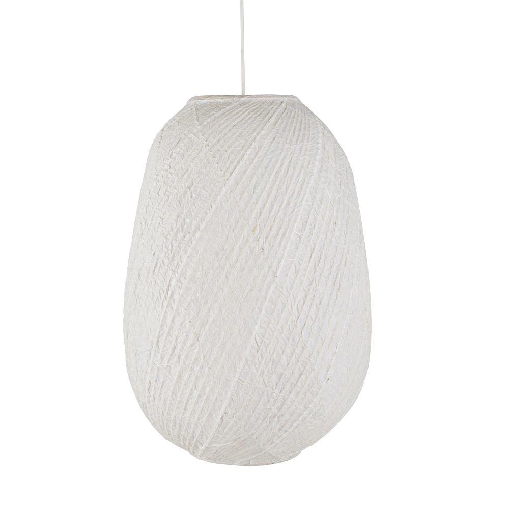 Hanglamp Uit Wit Bamboe En Wit Rijstpapier