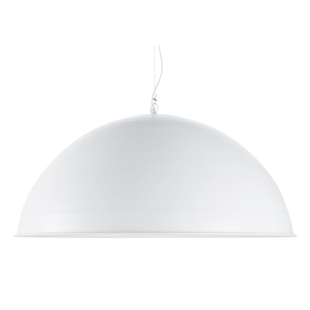 Hanglamp Uit Wit Metaal Met XXL-lampenkap