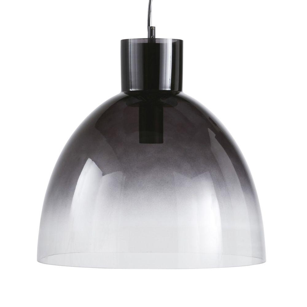 Hanglamp Uit Zwartgetint Transparant Glas Met Verloopeffect