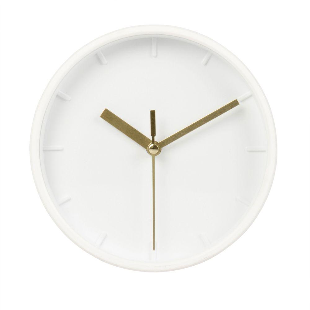 Horloge à poser blanche 15x16