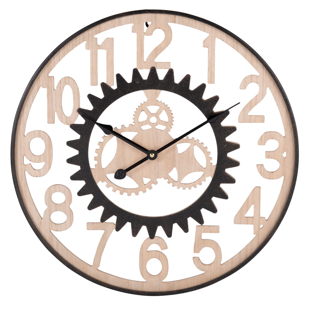 Horloge à rouages bicolore D60