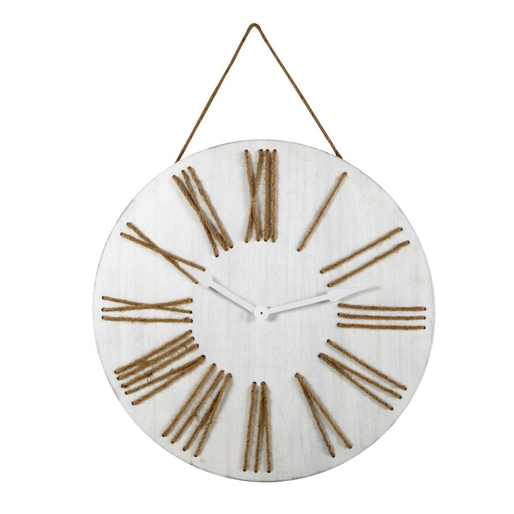 Horloge à suspendre blanchie D80