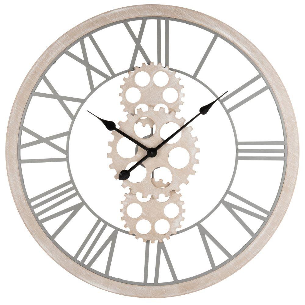 Horloge avec rouages en métal ajouré D70