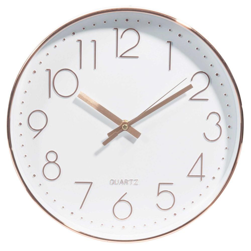 Horloge blanche et cuivrée D31