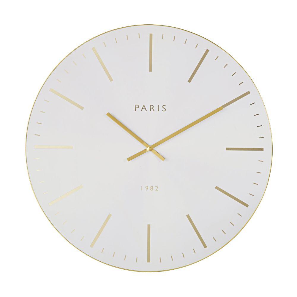 Horloge blanche et dorée D90