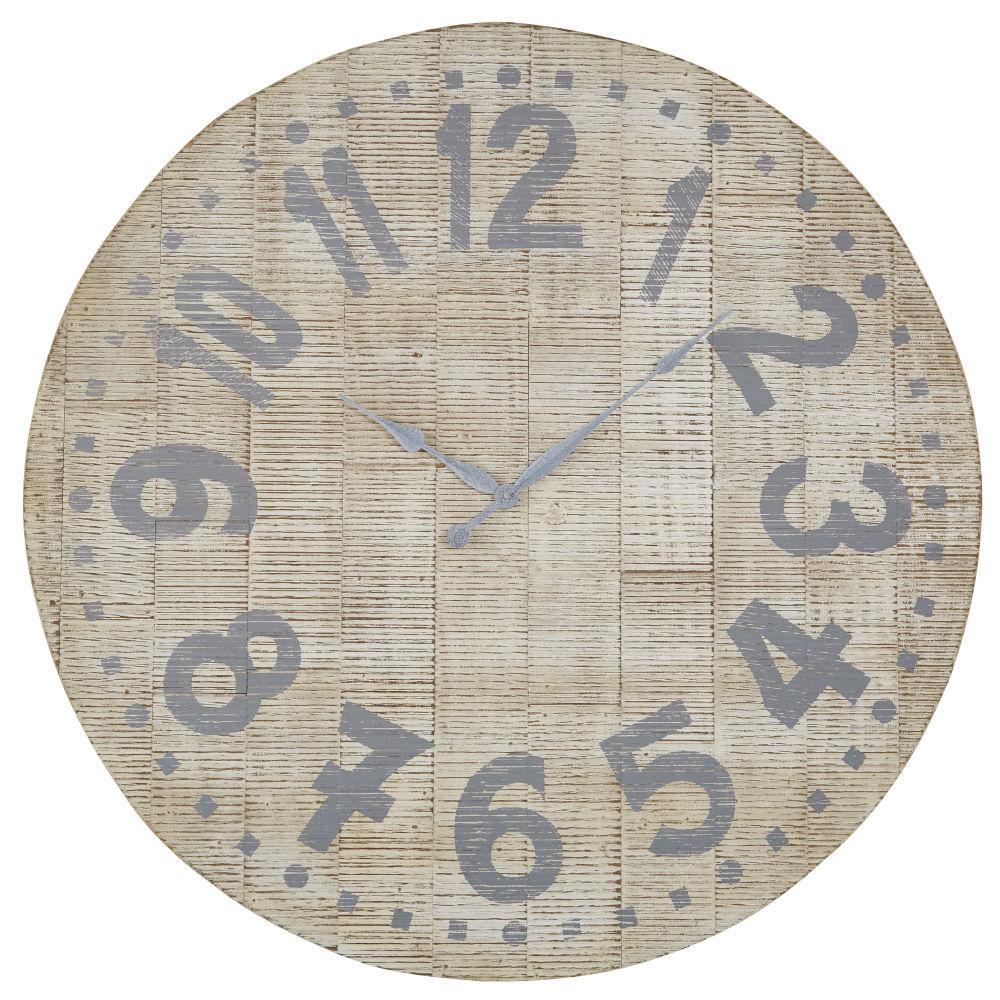Horloge blanchie et grisée D100
