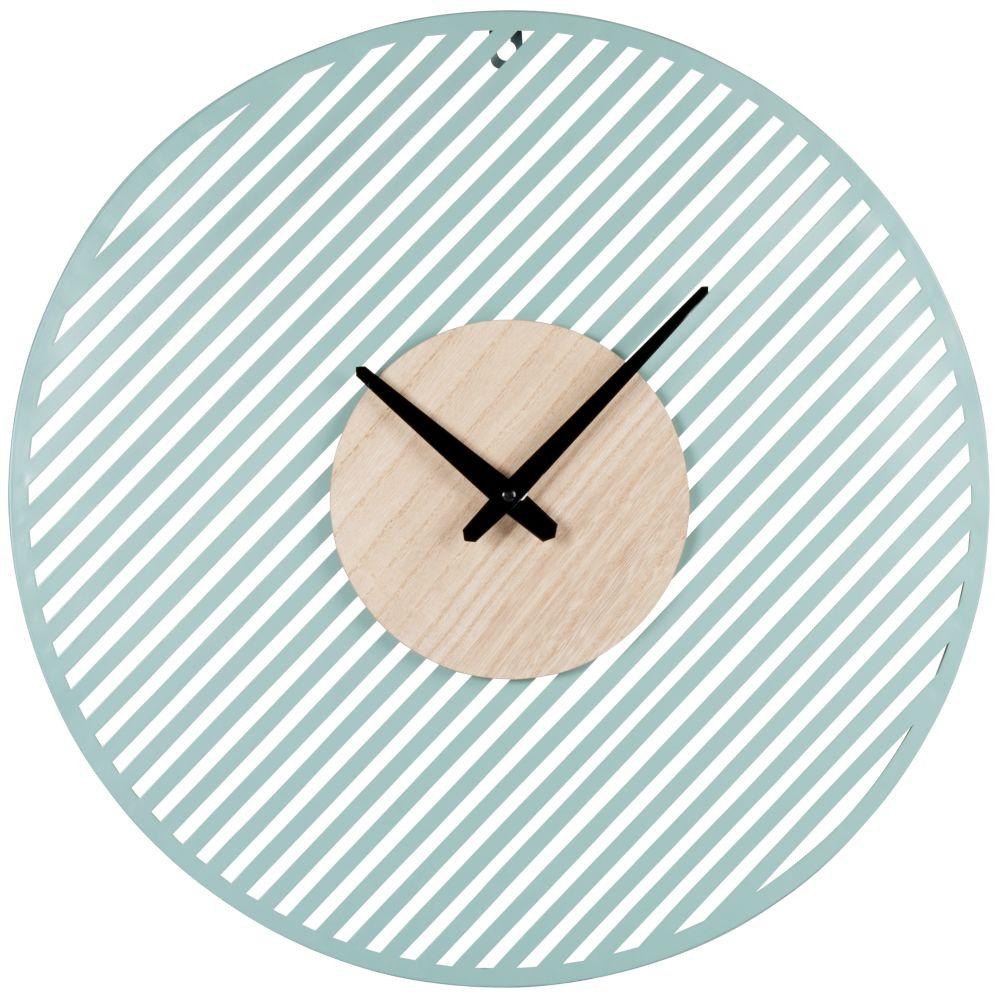 Horloge bleu vert et beige D50