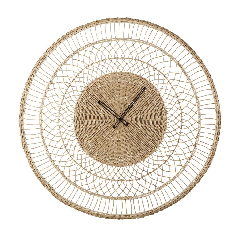 Horloge en fibre végétale tressée D82