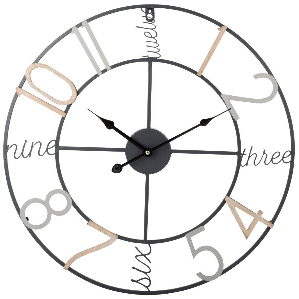 Horloge en métal coloré D50