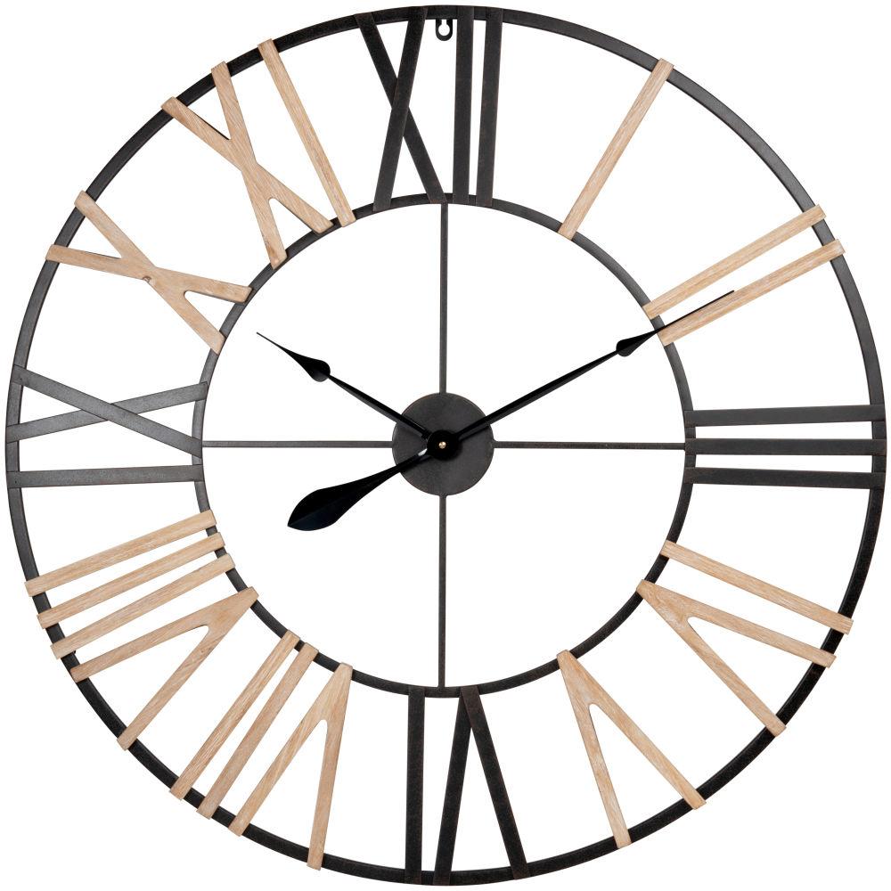 Horloge noire et beige D80