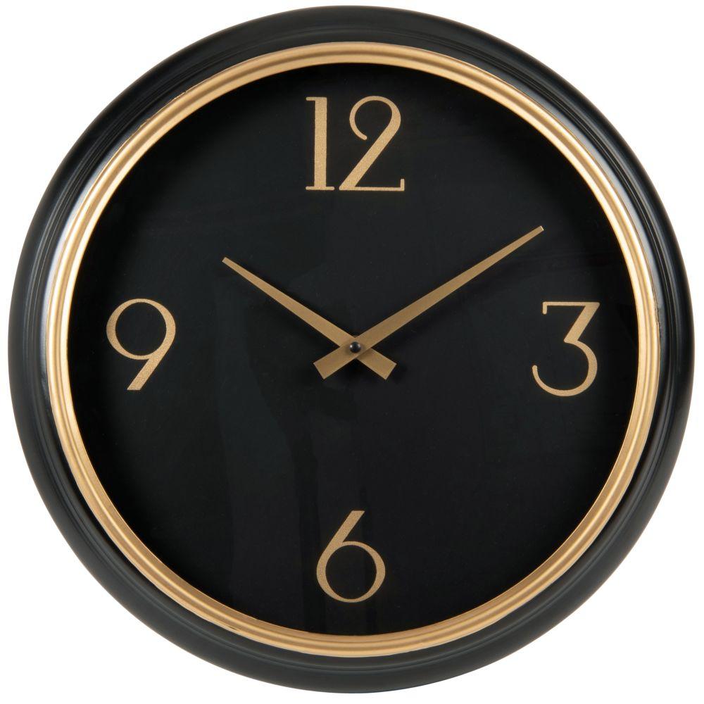 Horloge noire et dorée D42