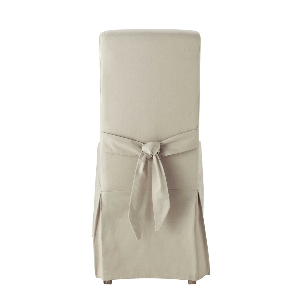 Housse de chaise avec nœud en coton mastic