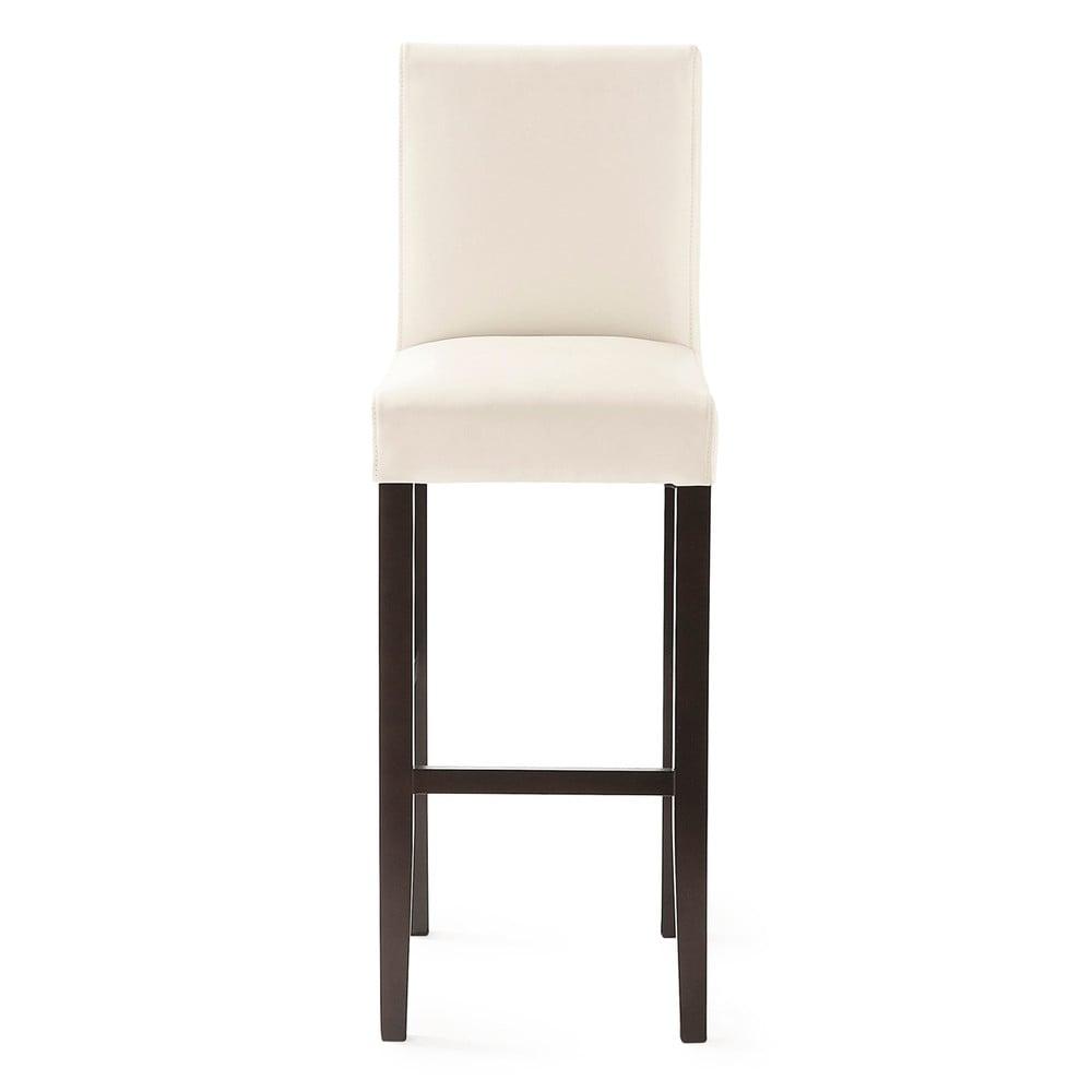 Housse de chaise de bar en coton ivoire