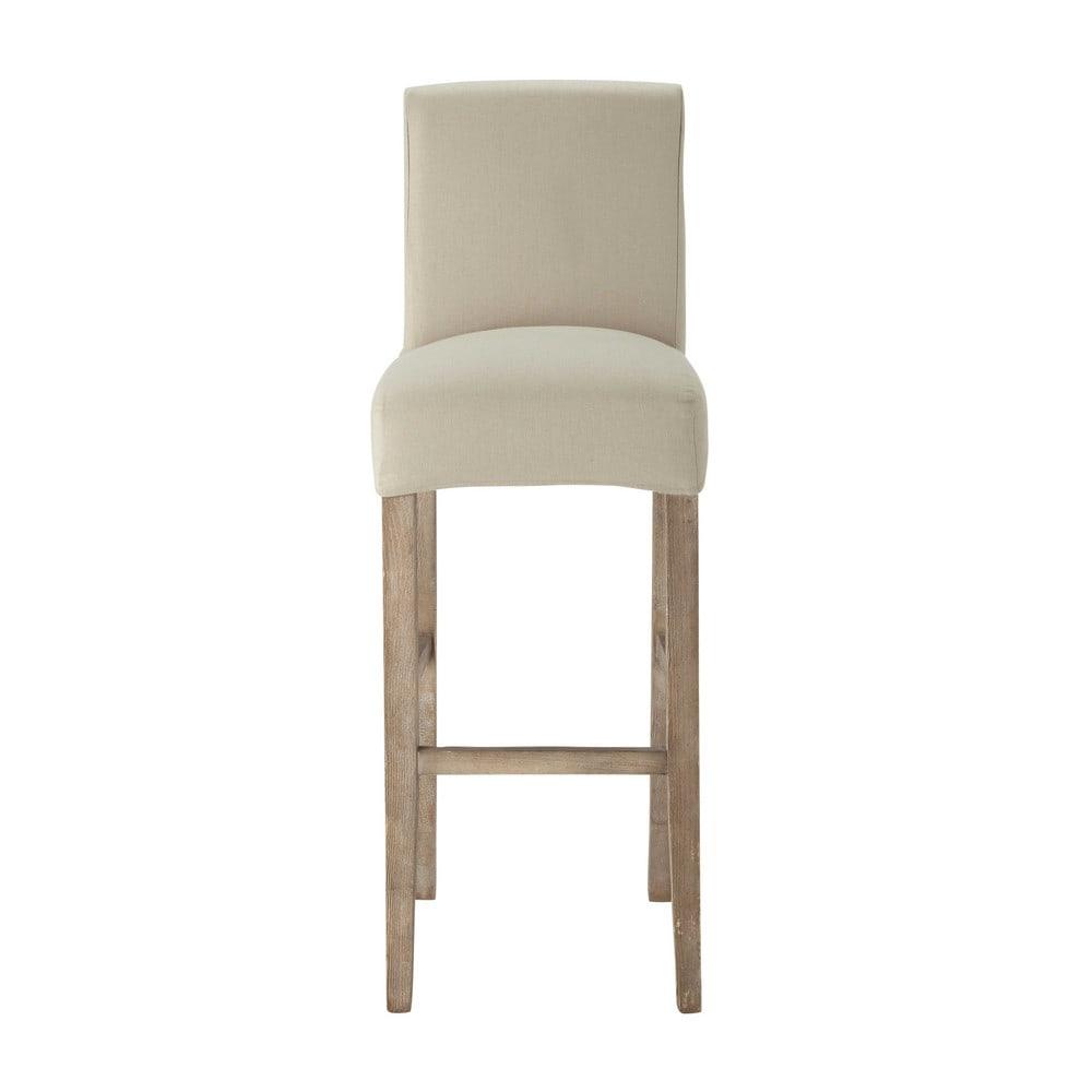 Housse de chaise de bar en coton mastic