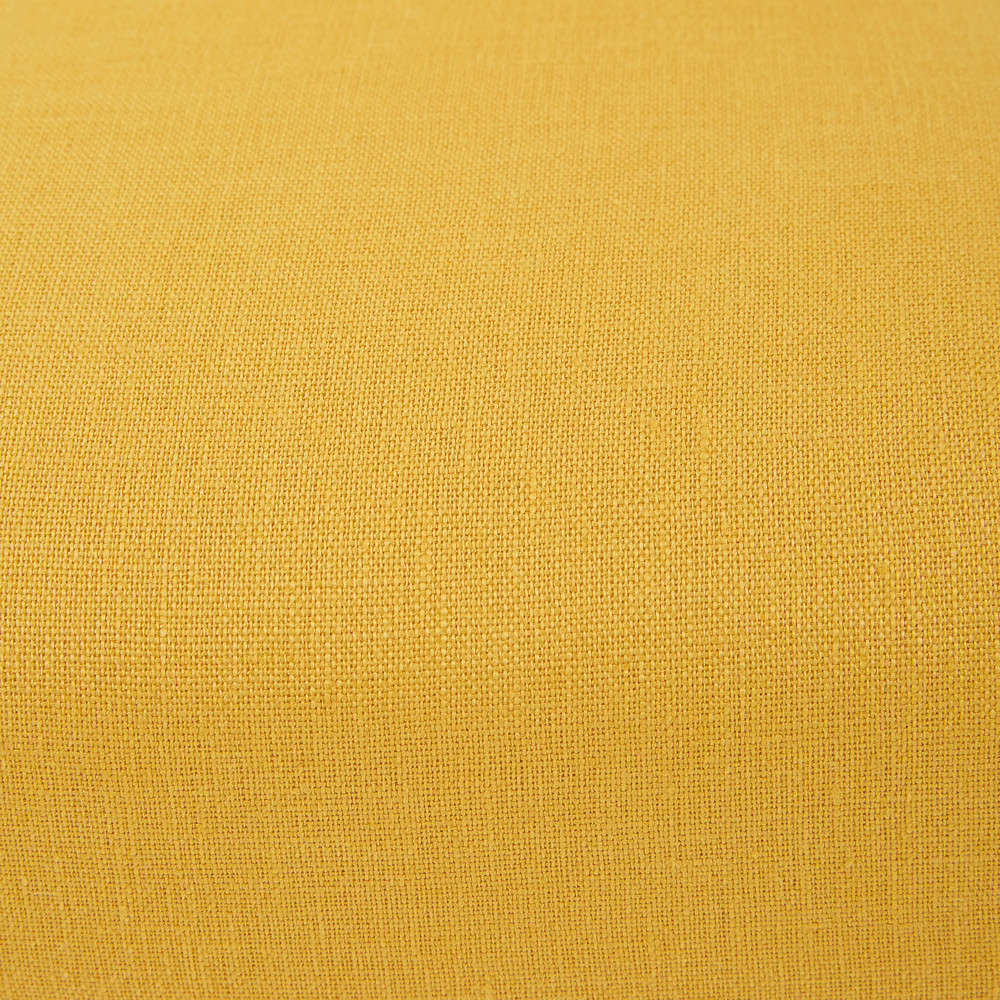 Housse de chaise en coton jaune moutarde 41x70