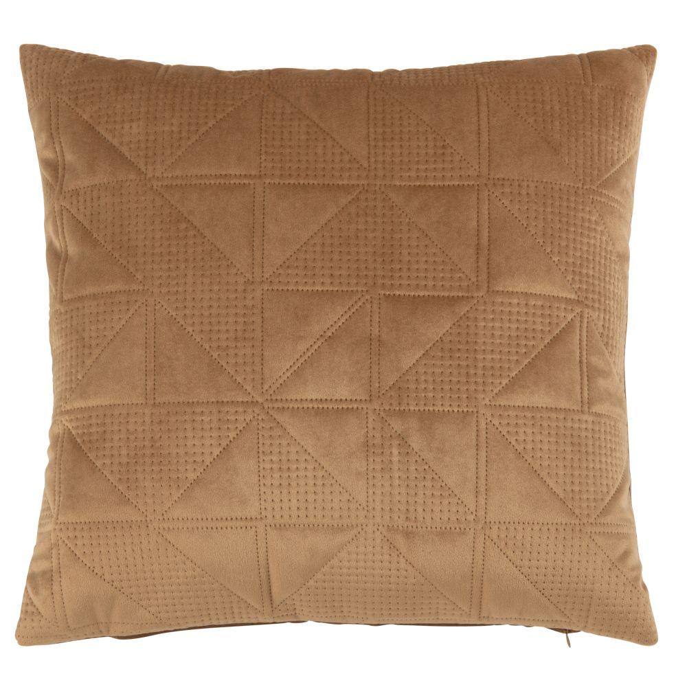 Housse de coussin en suédine motifs pointillés 40x40