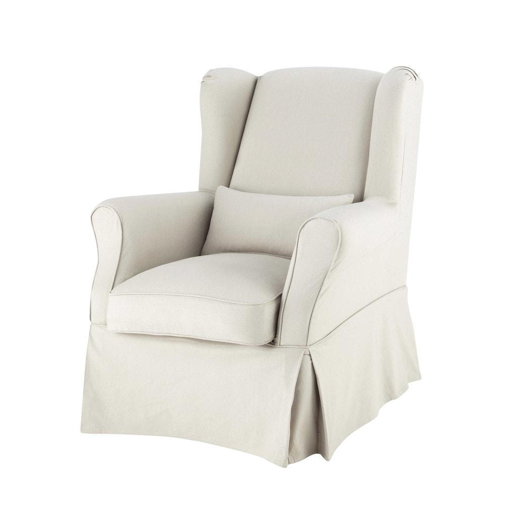Housse de fauteuil en coton mastic