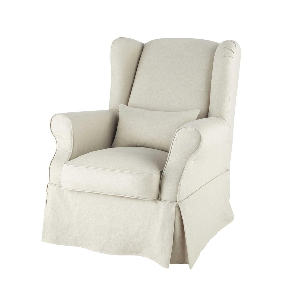 Housse de fauteuil en lin