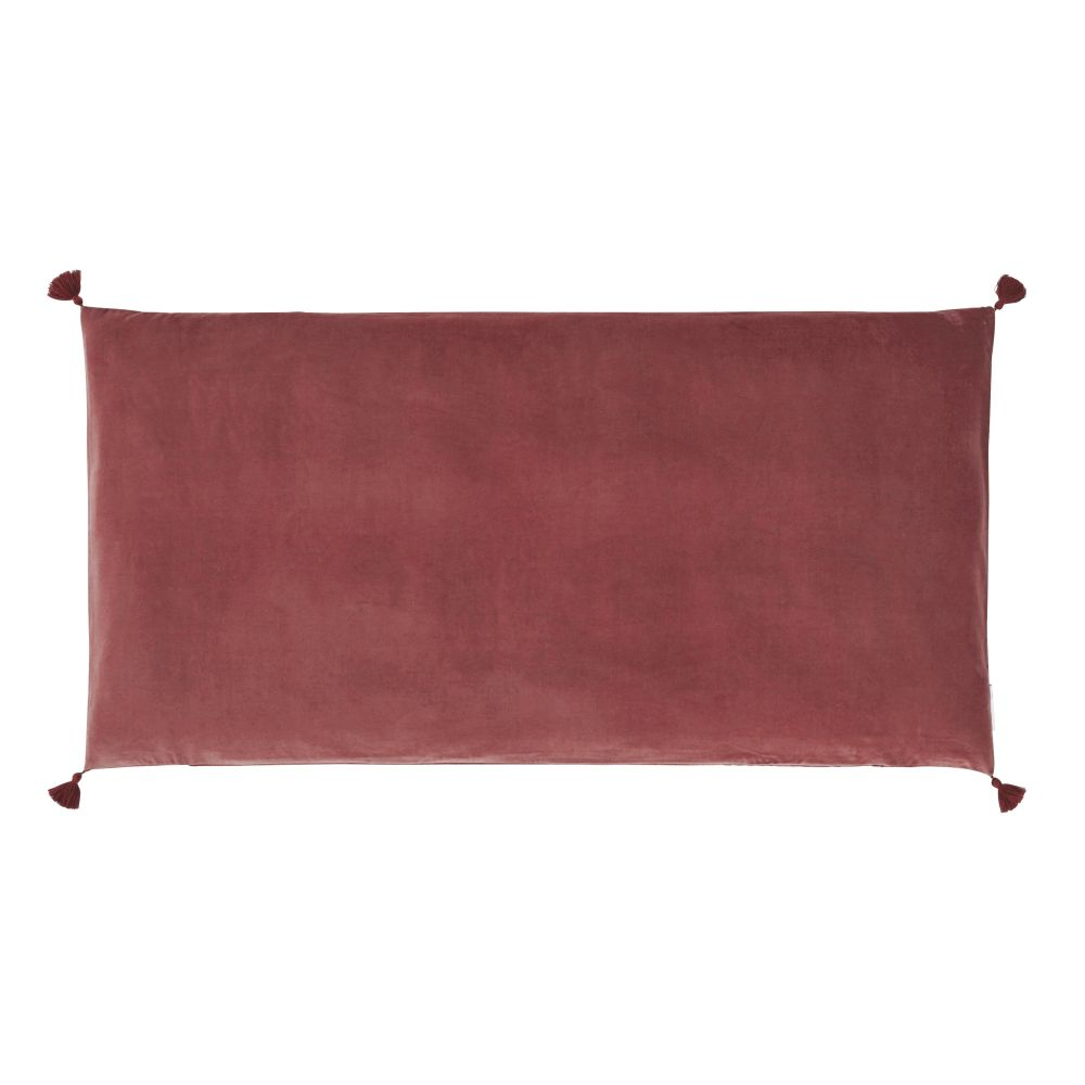 Housse de matelas de sol en velours de coton terracotta 60x120