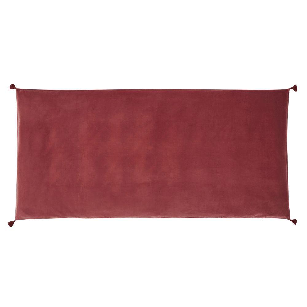 Housse de matelas de sol en velours de coton terracotta 90x190
