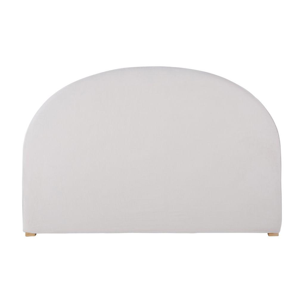 Housse de tête de lit 140 en gaze de coton bio grise