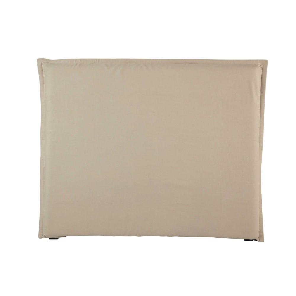 Housse de tête de lit 140 en lin lavé