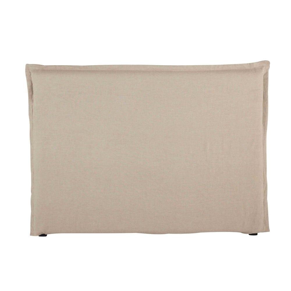 Housse de tête de lit 160 en lin lavé