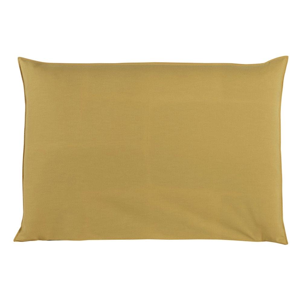 Housse de tête de lit 160 jaune moutarde