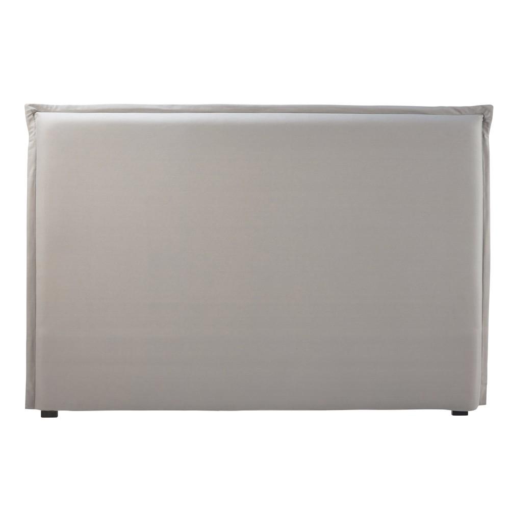 Housse de tête de lit 180 en coton gris