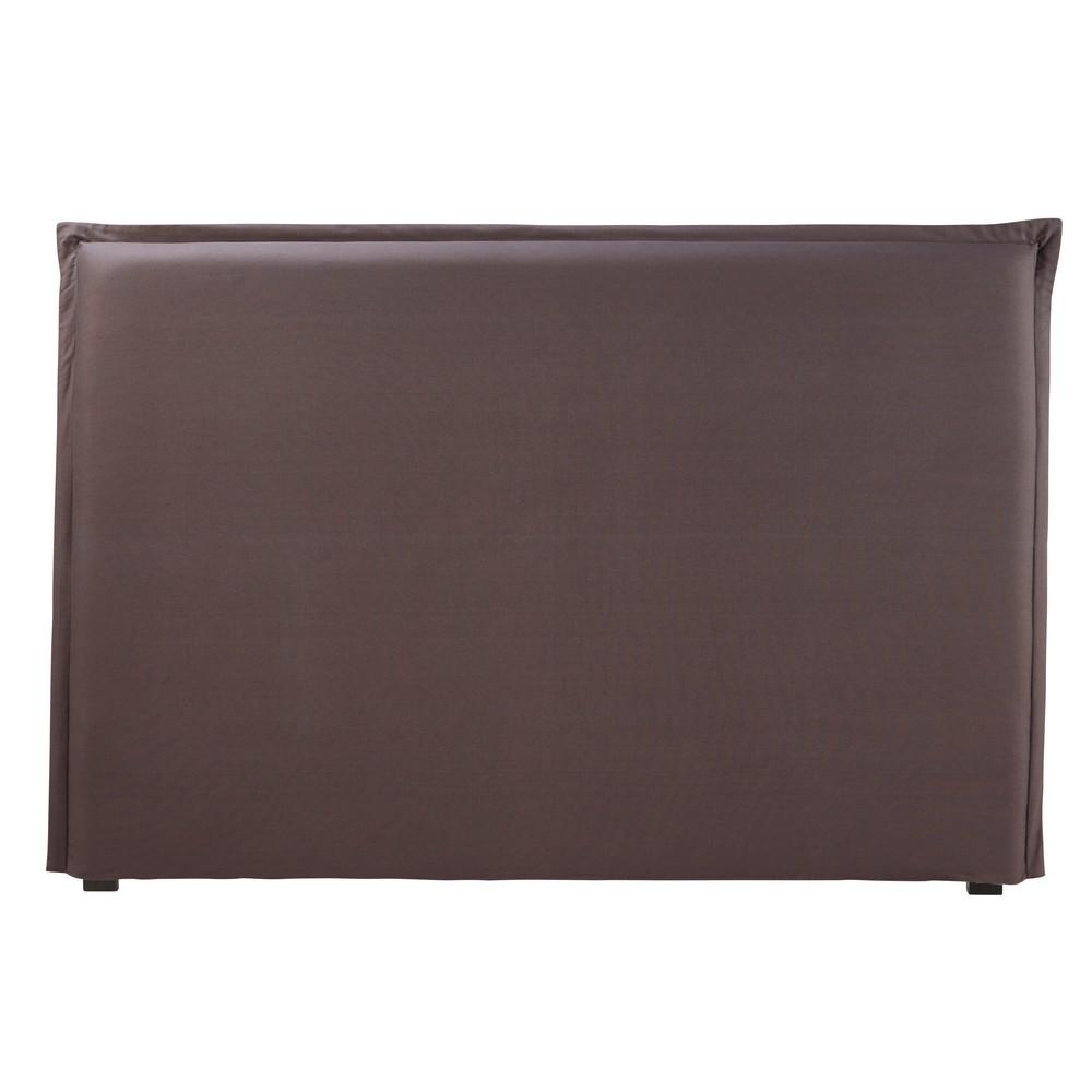 Housse de tête de lit 180 en coton gris anthracite