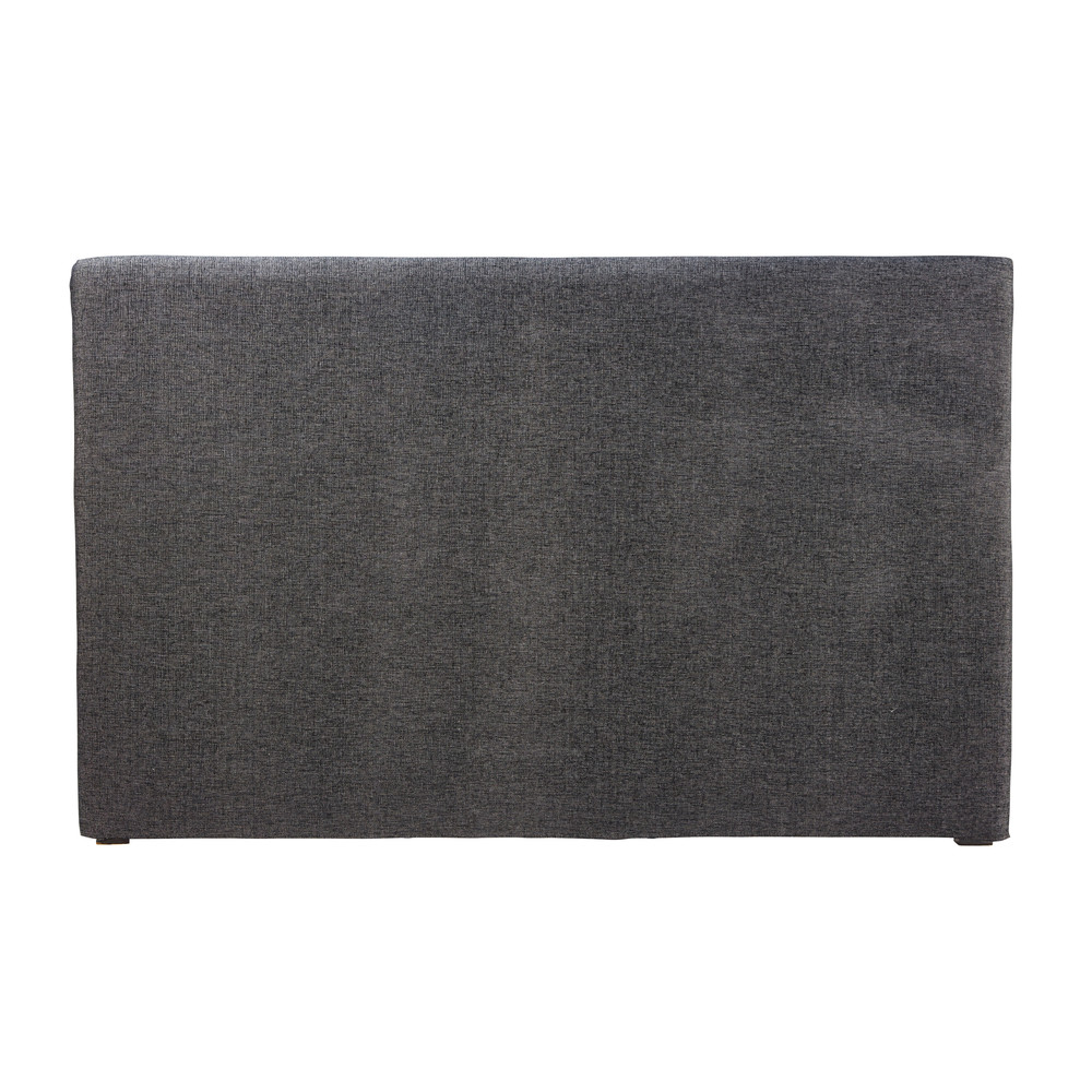 Housse de tête de lit 180 gris carbone