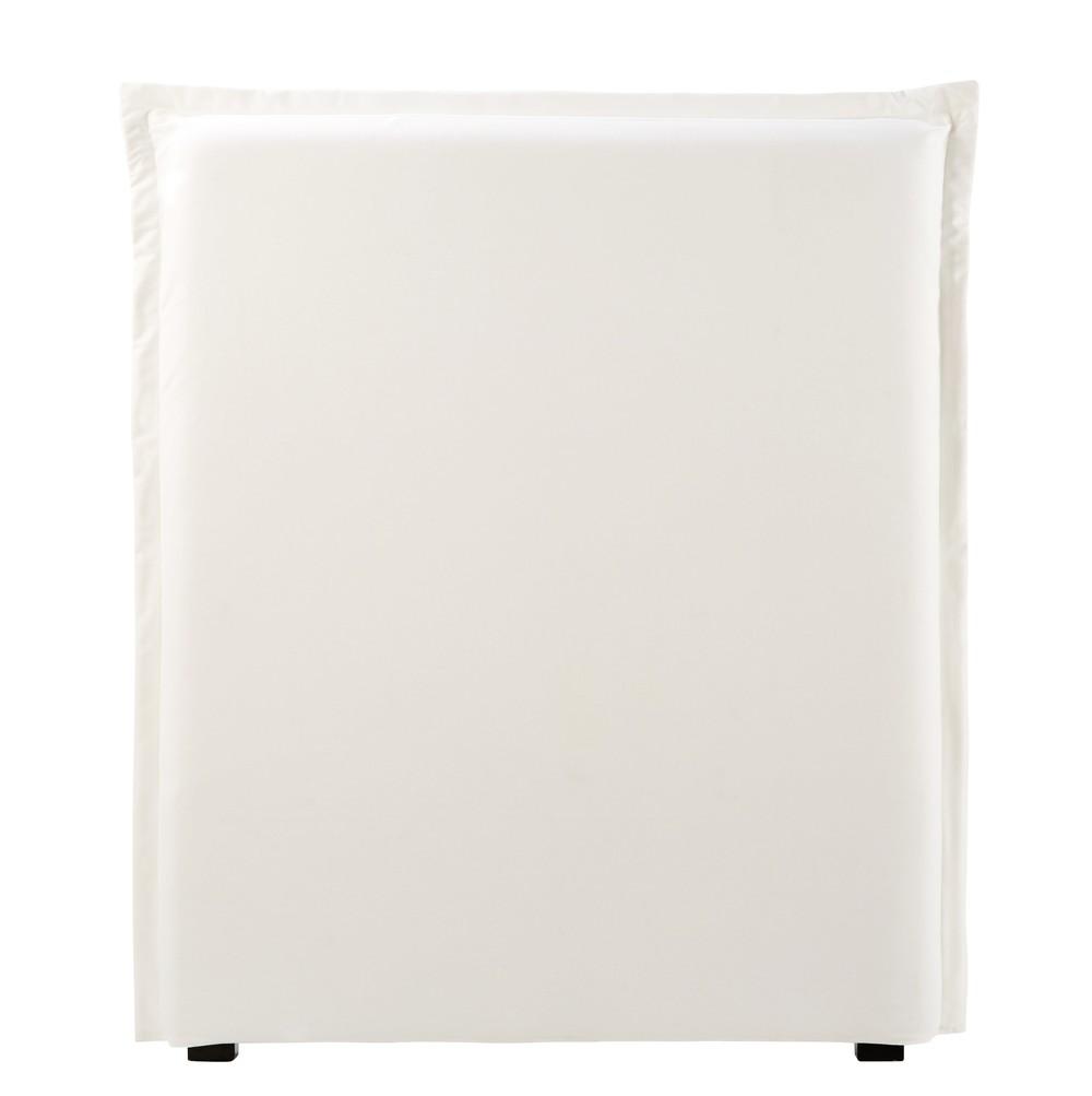 Housse de tête de lit 90 en coton ivoire