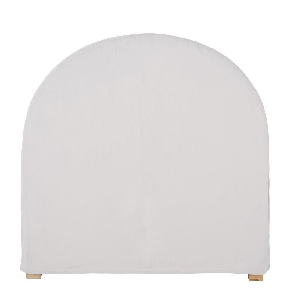 Housse de tête de lit 90 en gaze de coton bio grise