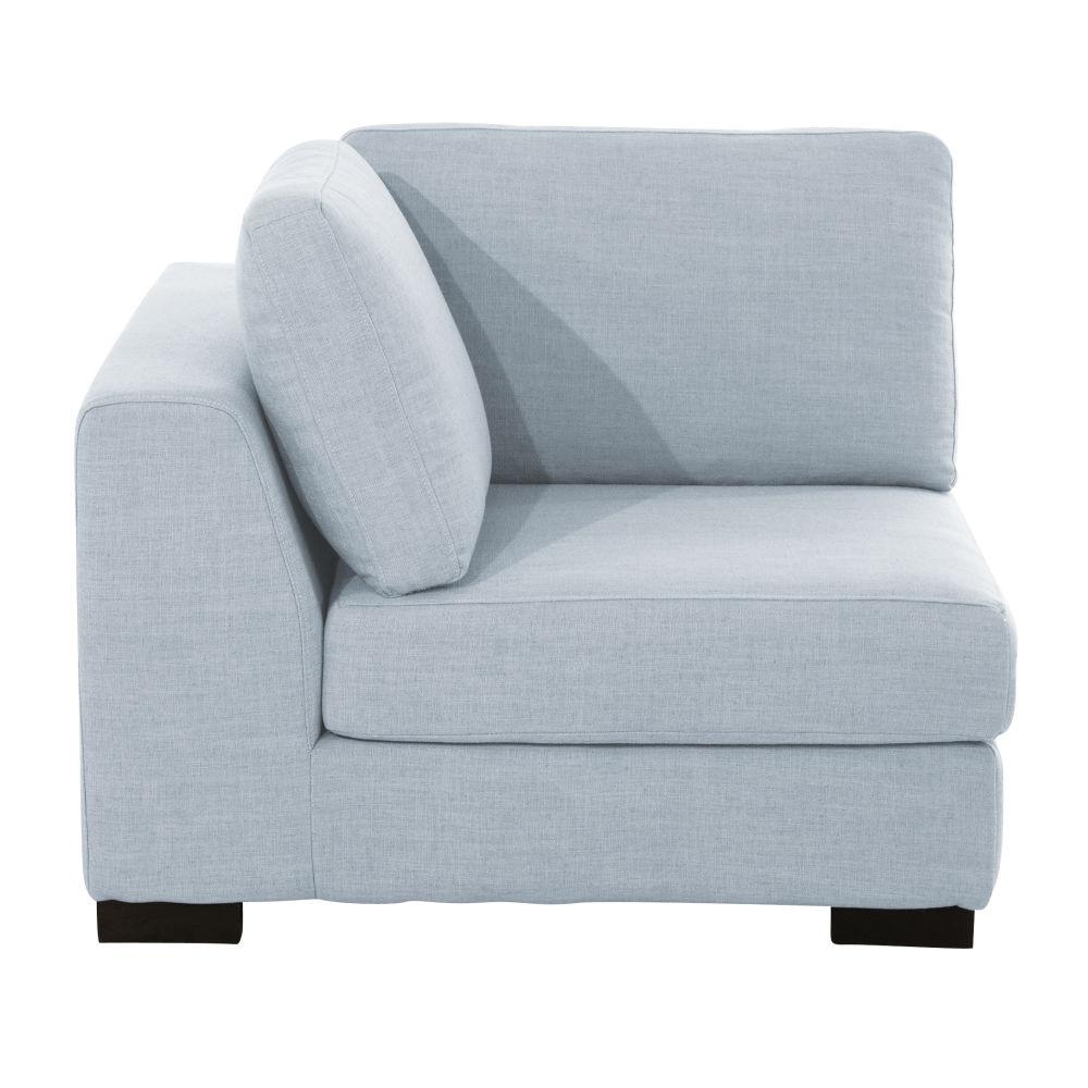 Ijsblauw Moduleerbare Hoekelement Voor Zetel