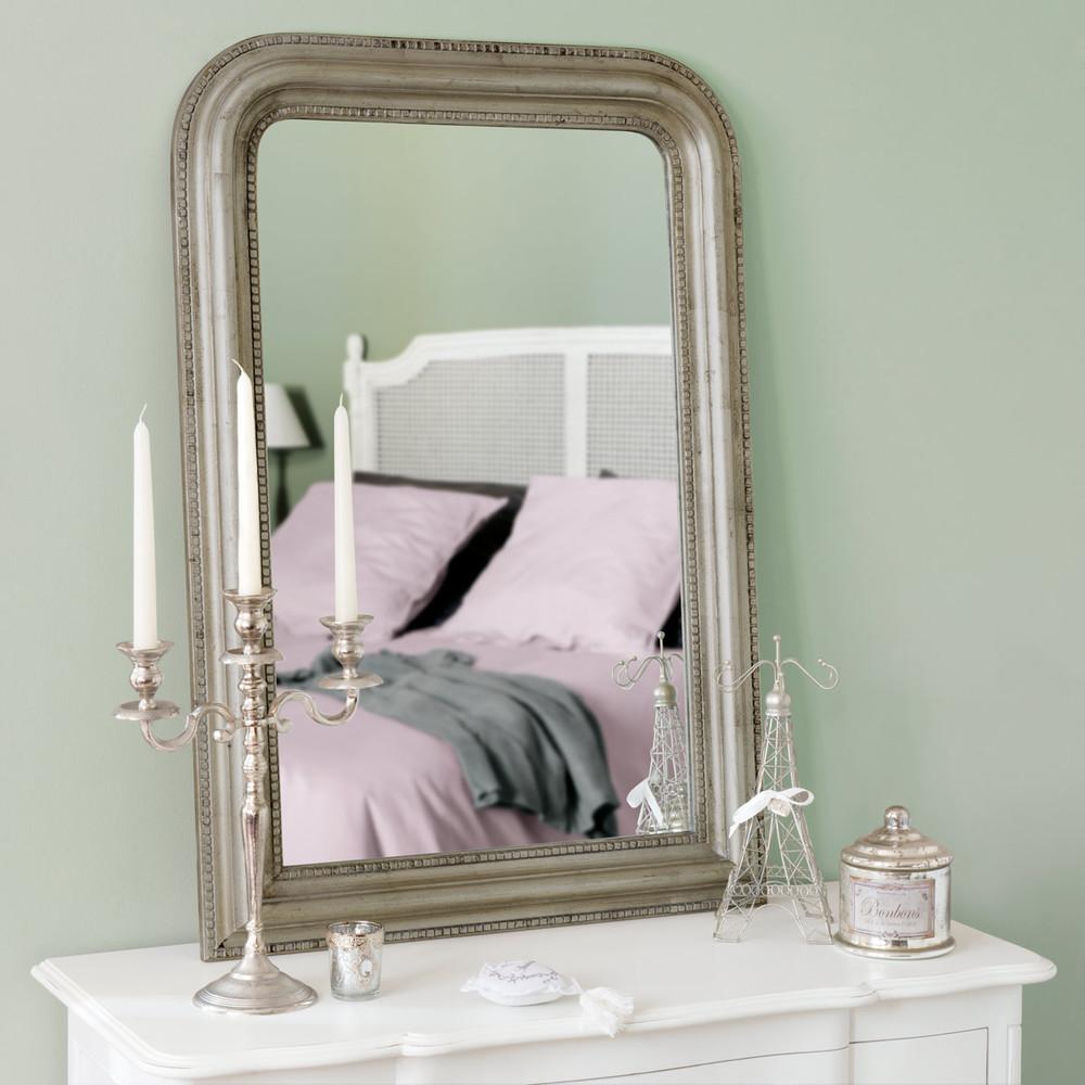 Iriserend Paulowniahouten Spiegel 67x97
