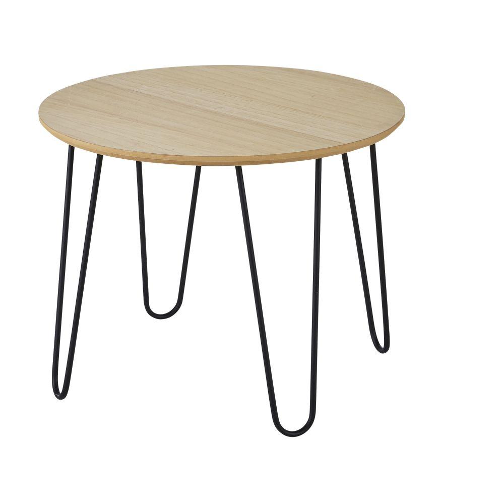Kindertisch, schwarz und naturfarben D60
