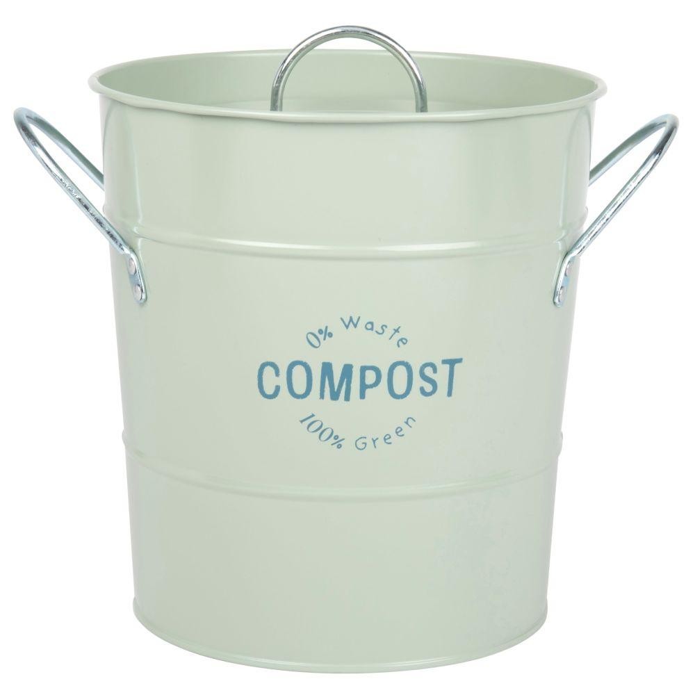 Kompostbehälter aus Metall, grün