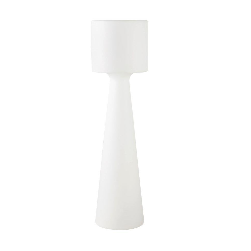 Lampadaire d'extérieur blanc H138