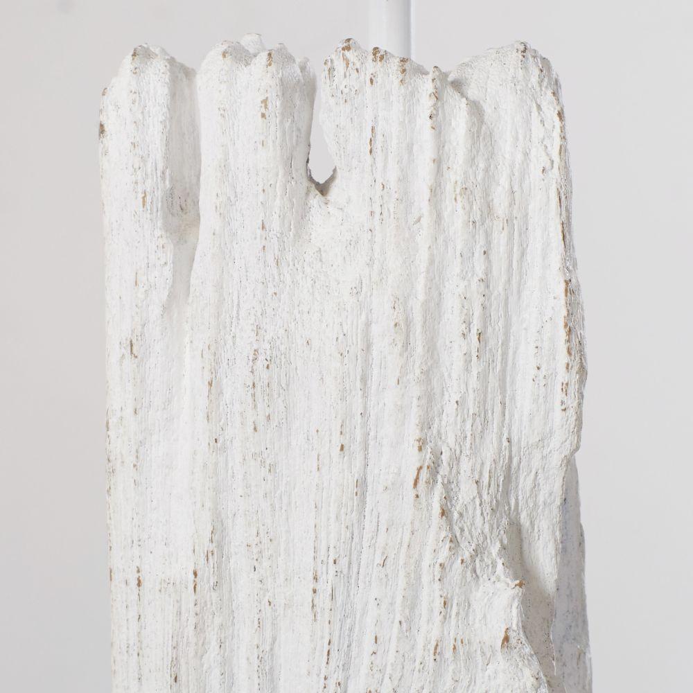 Lampadaire en bois flotté blanc H165