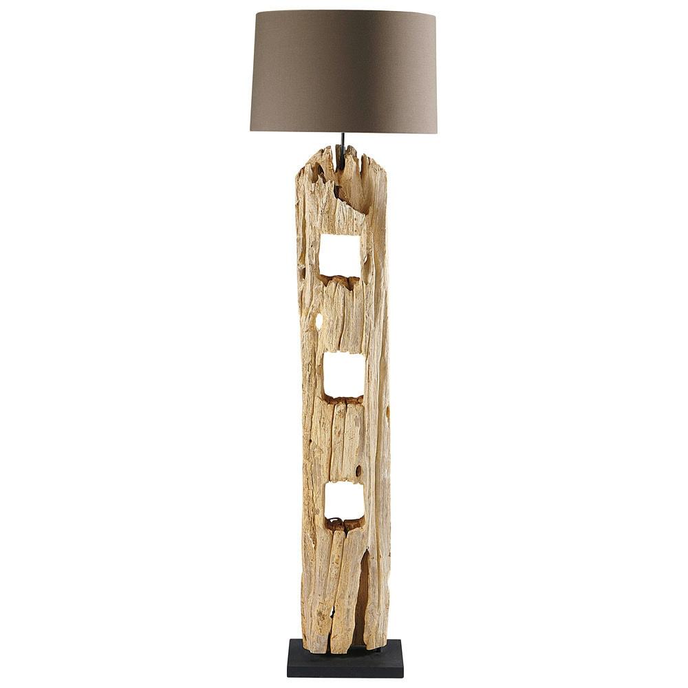 Lampadaire en bois H 170 cm