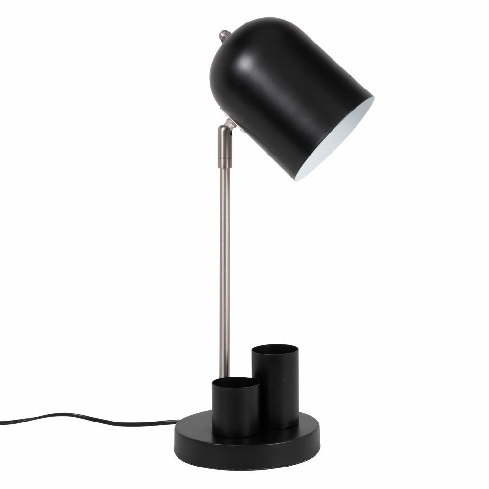 Lámpara de escritorio de metal negro
